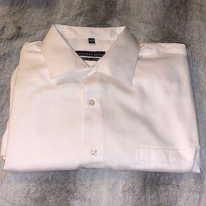 White Button Down Classic Dress Shirt 17.5 32/33